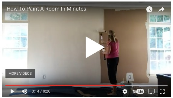 how to paint a room in minutes on www.sugarbananas.com