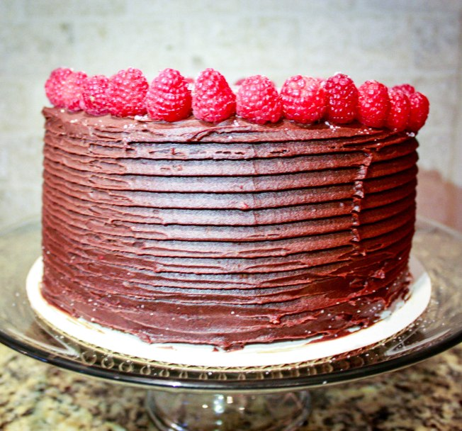 Chocolate Raspberry Ganache Cake-1902
