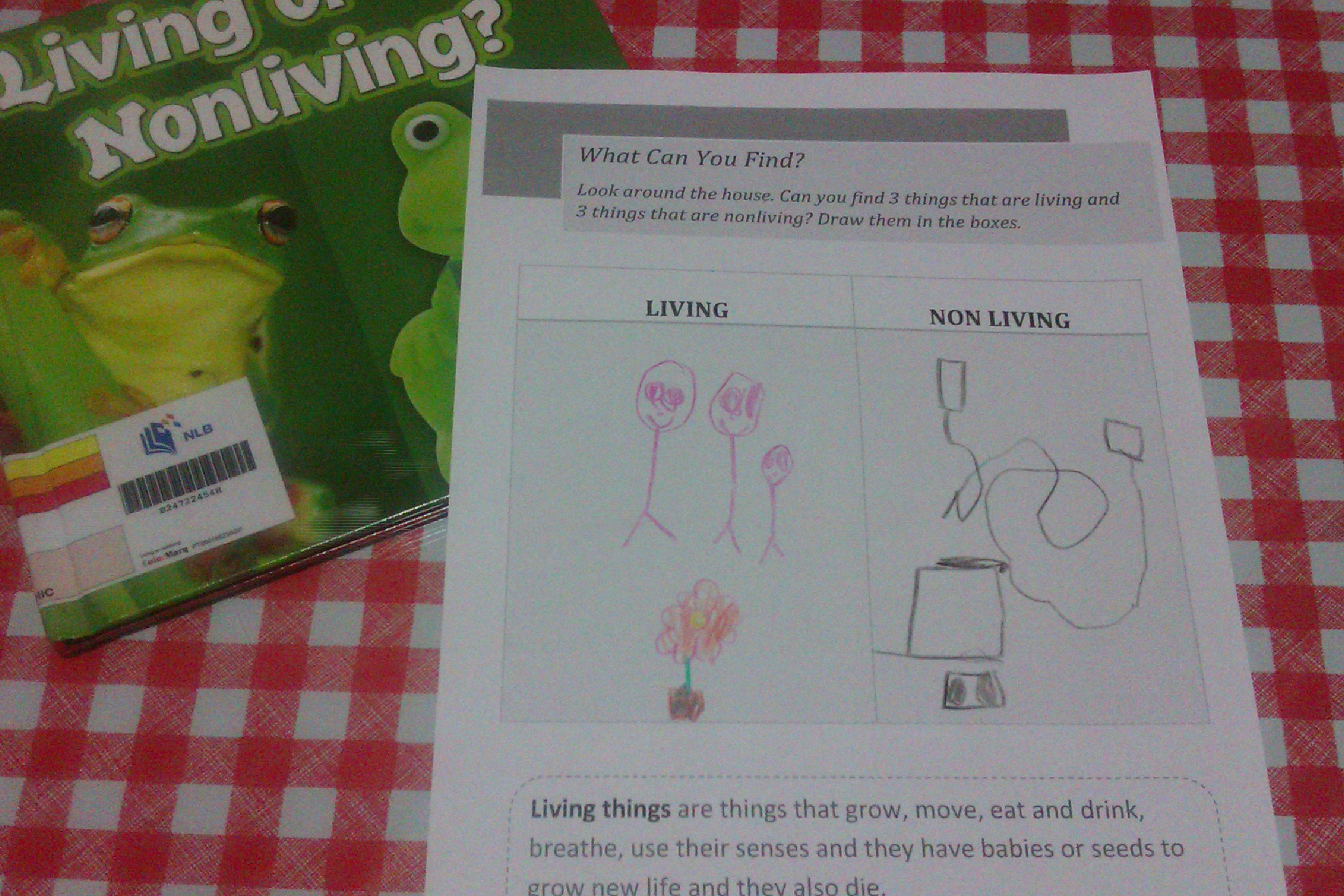 Lesson Plan Living Amp Non Living Things