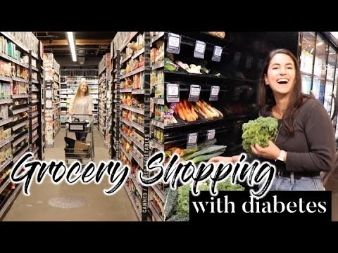 GROCERY SHOPPING WITH TYPE 1 DIABETES // foods that won't spike my blood sugar