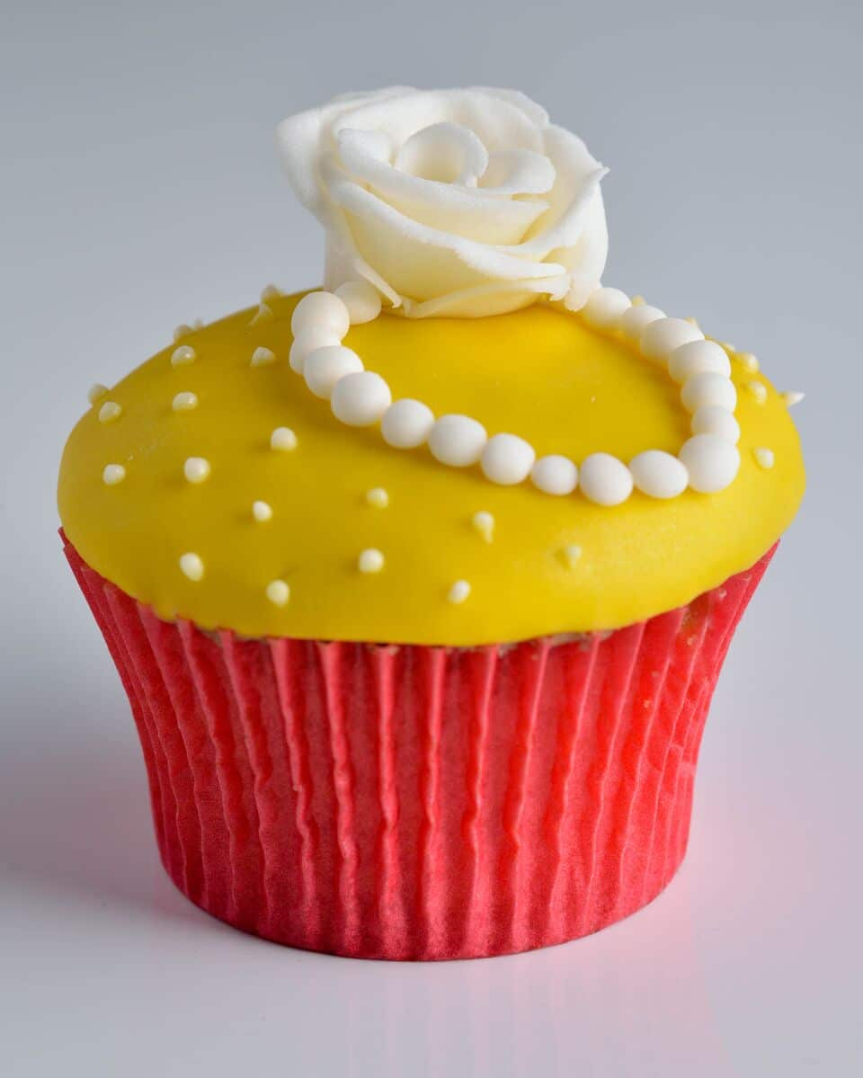Red and Yellow Cupcake