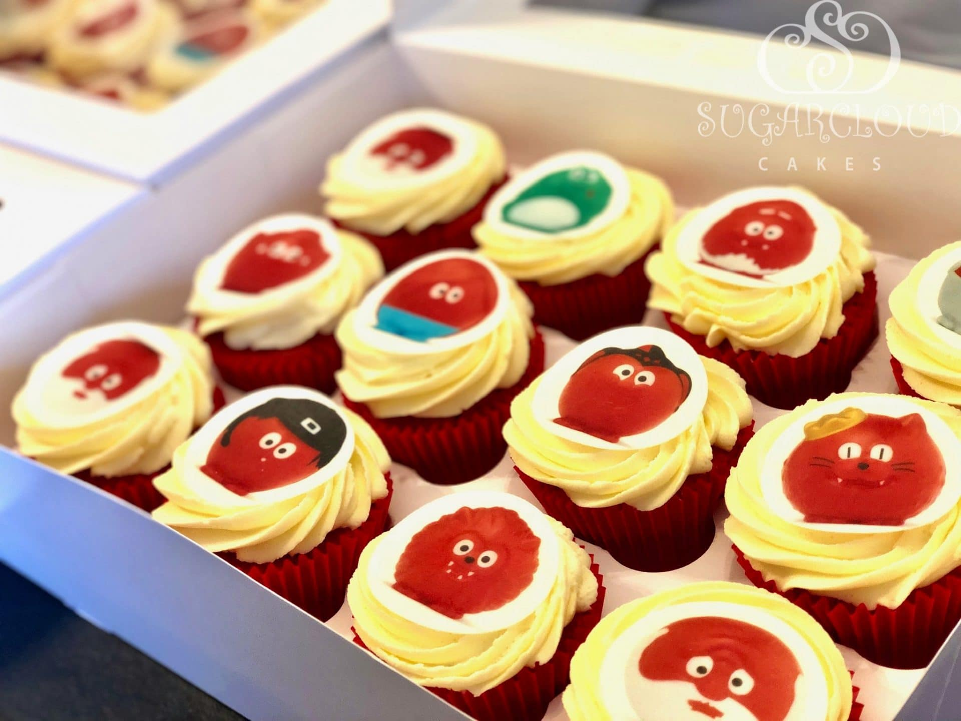 Red Nose Day Cupcakes 2