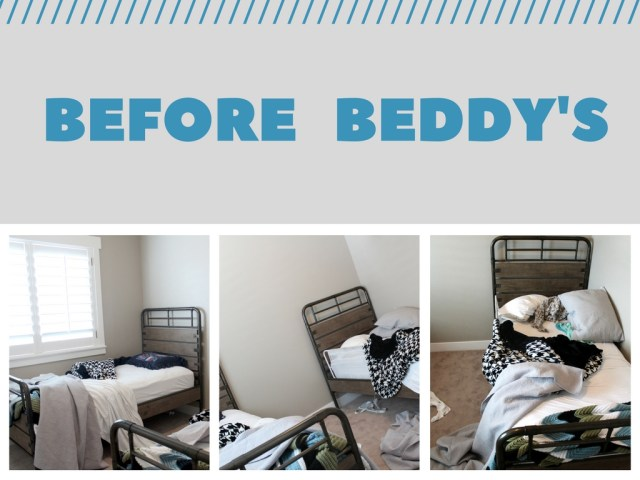 Little boys bedroom make over featuring Beddys bedding find out more at sugarcoatedhousewife.com