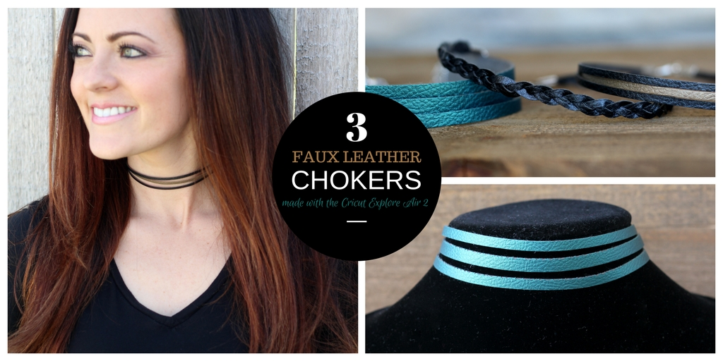 Faux Leather Chokers made with the Cricut you can get all details at sugarcoatedhousewife.com