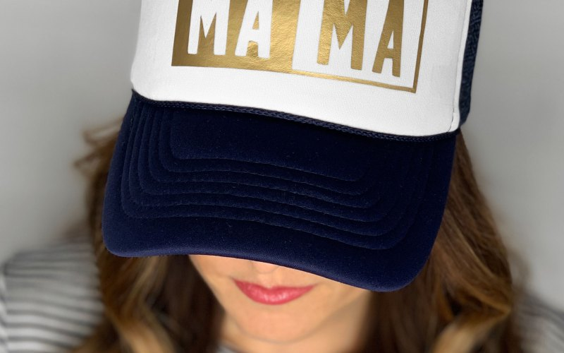 DIY MAMA HAT USING THE CRICUT     EASYPRESS MINI!!