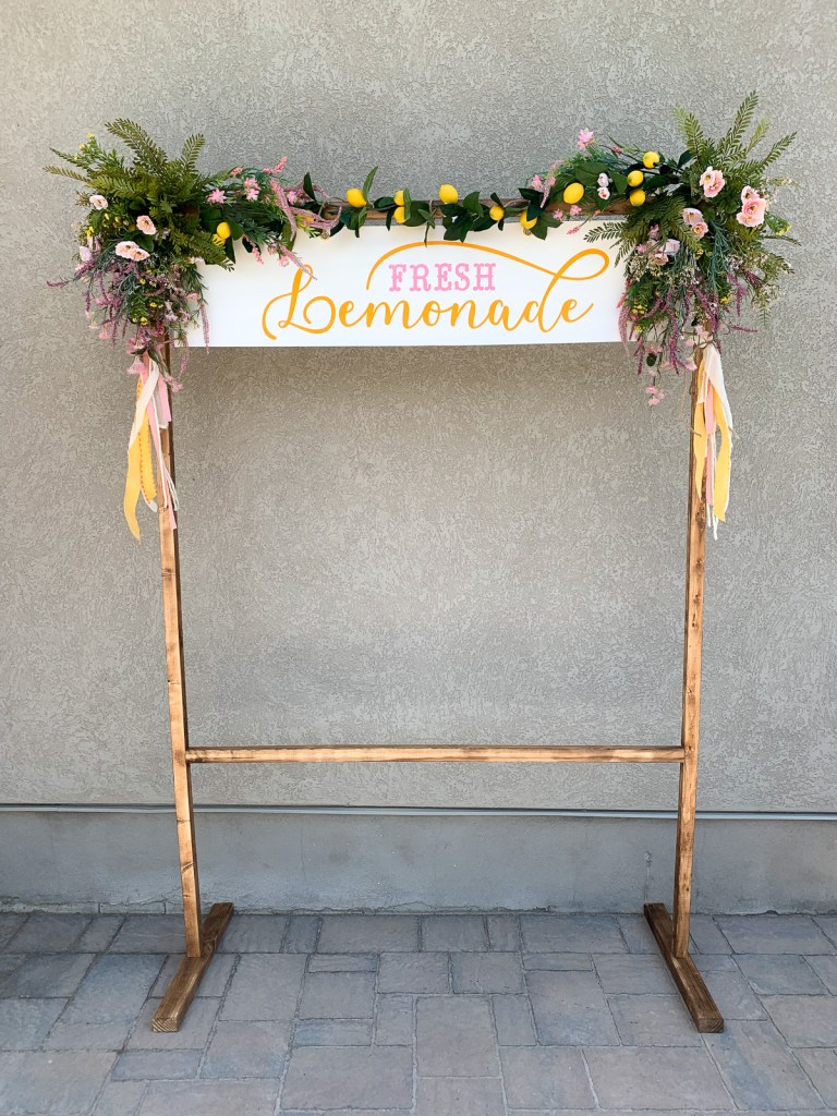 DIY lemonade stand using the new Cricut Maker 3 featured by Sugarcoatedhousewife.com utah craft blogger
