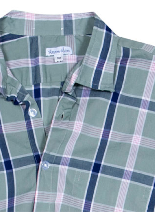 Steven Alan | Men's Spring Reverse Seam Inside Pocket | Grey/Blue