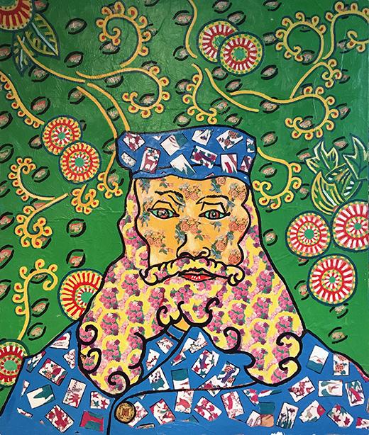 Jack Gibons_Van Gogh's Portrait of Joseph Roulin, Untitled, 1992 01
