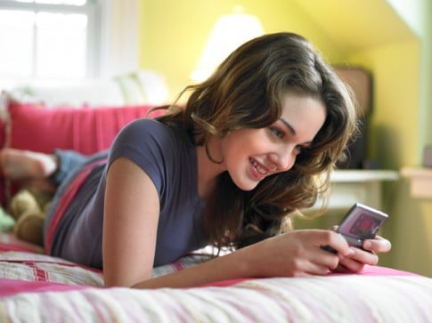 Girl-Texting-On-Cell-Phone