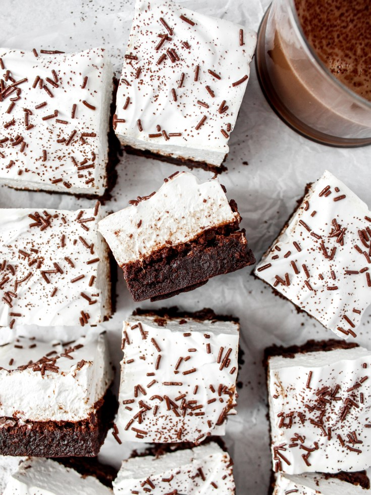 Peppermint Hot Cocoa Brownies