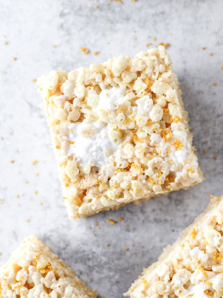 Fresh Orange Rice Krispie Treats
