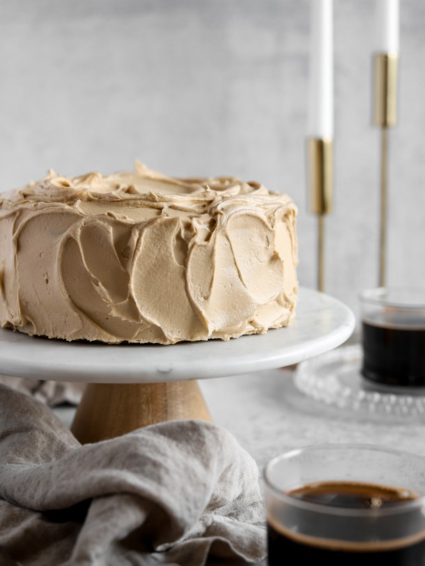 Coffee Banana Layer Cake with Coffee Frosting