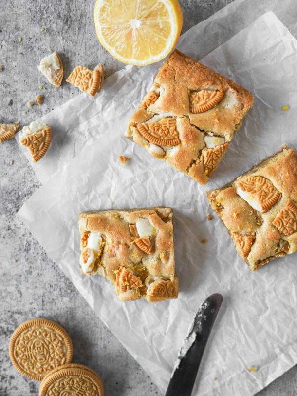 Golden Oreo Lemon Cookie Bars