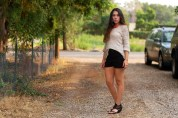 Nude Sweater August Wrinkle High Waisted Shorts