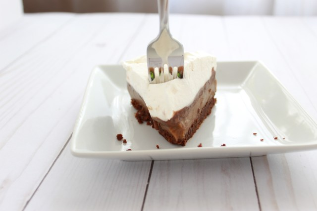 Slice of Mocha Cream Pie