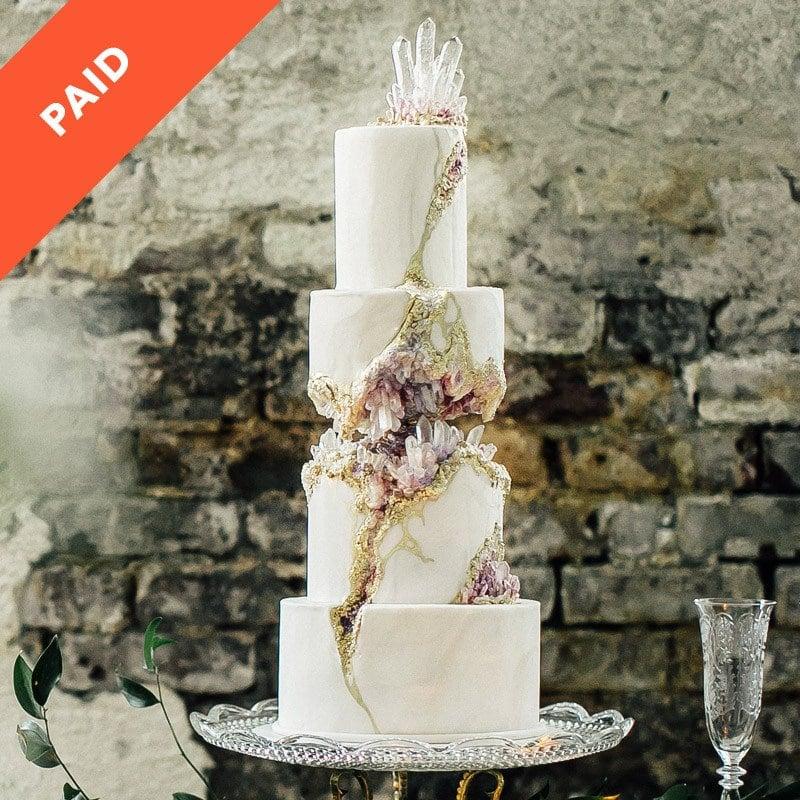 Kintsugi Crystal Geode Wedding Cake Sugar Geek Show