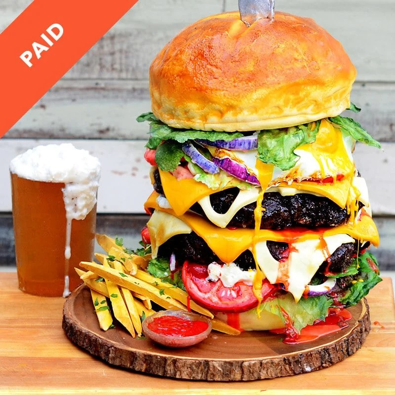 Hamburger And Beer Cake Tutorial