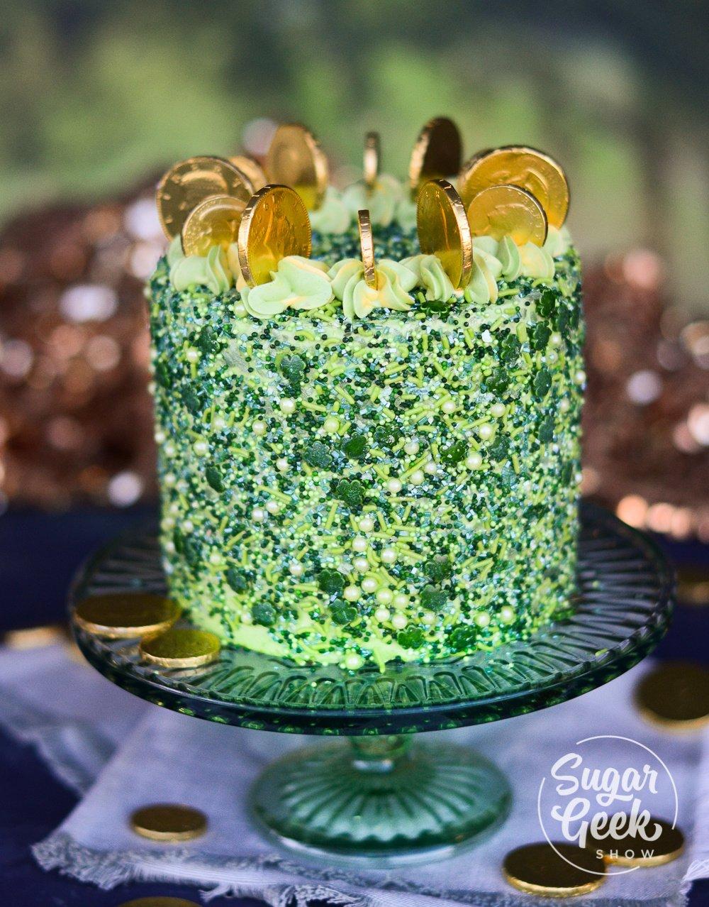 St Patrick S Day Cake Green Velvet Cake Tutorial Sugar Geek Show