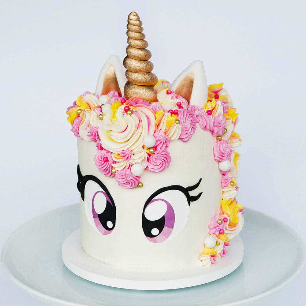 Unicorn Cake Tutorial Free Eye Printable Sugar Geek Show