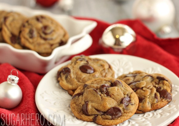 Gingerbread Chocolate Chip Cookies | SugarHero.com