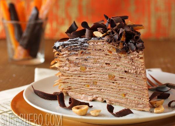 Nutella Crepe Cake | SugarHero.com