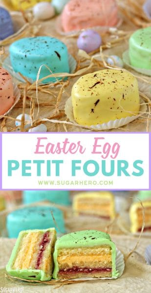 Easter Egg Petit Fours | From SugarHero.com