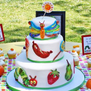 Very Hungry Caterpillar Cake | From SugarHero.com