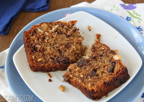 Banana Coconut Macadamia Nut Bread   SugarHero.com
