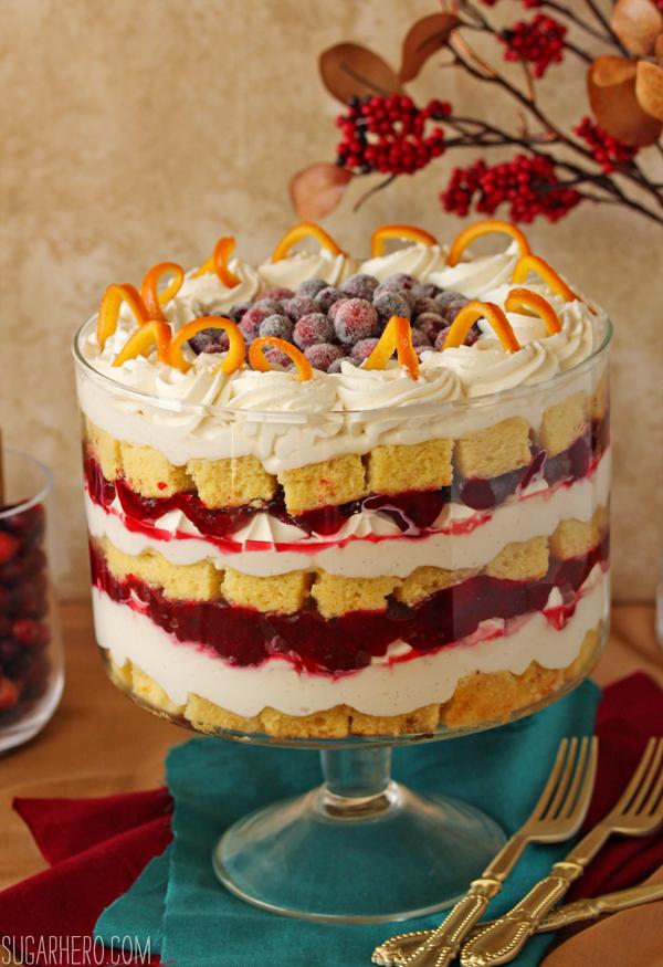 Cranberry Orange Trifle   SugarHero.com