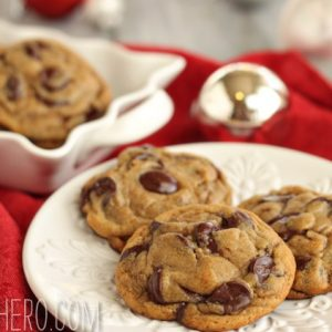 Gingerbread Chocolate Chip Cookies | From SugarHero.com