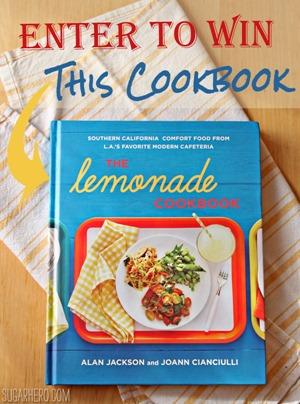 Lemonade Cookbook Giveaway | SugarHero.com
