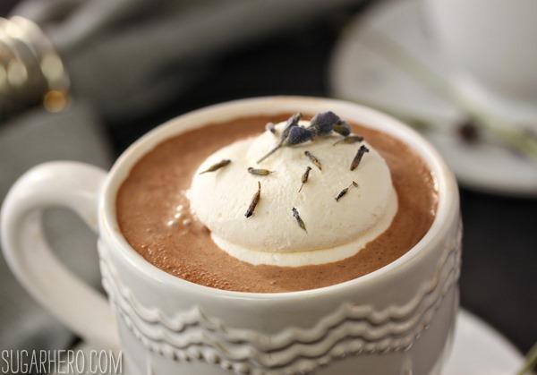 Lavender Hot Chocolate | SugarHero.com