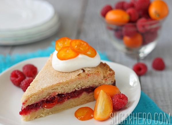 Raspberry Kumquat Cake | SugarHero.com