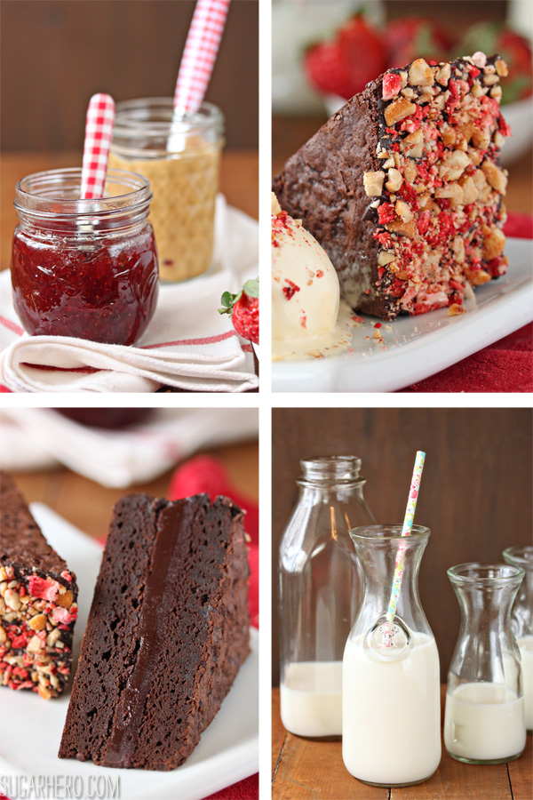 Peanut Butter and Jelly Brownie Sandwiches | SugarHero.com
