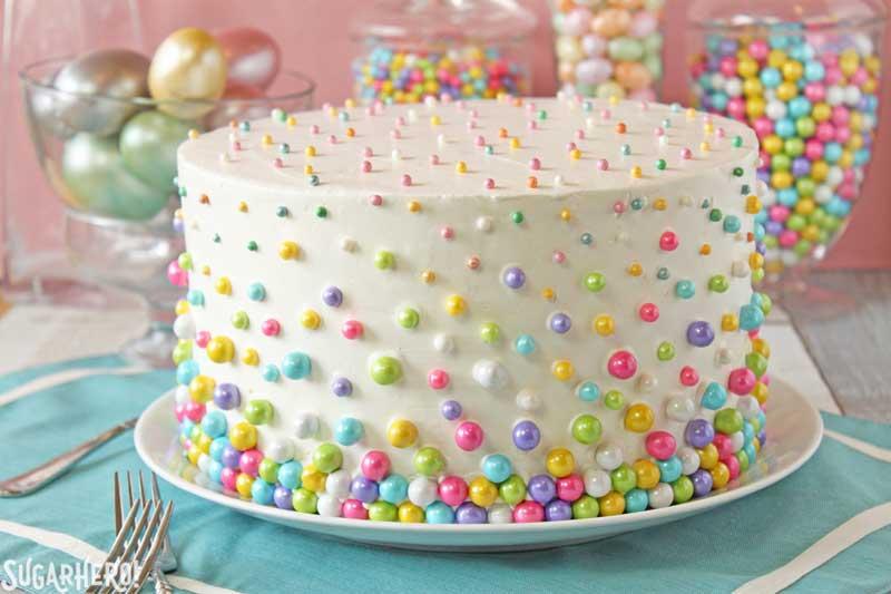 Easter Polka Dot Cake | From SugarHero.com