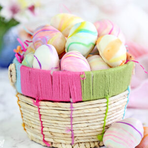 Marbled Easter Egg Truffles | From SugarHero.com