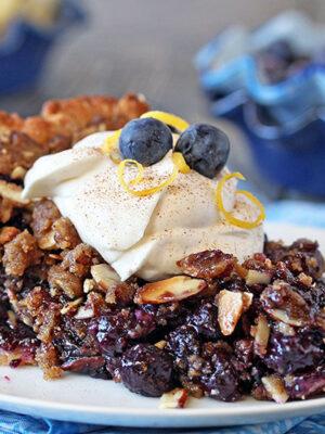 Blueberry Crumble Pie | From SugarHero.com