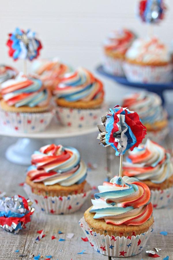Exploding Cupcakes | From SugarHero.com