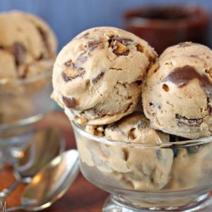 Peanut Butter Cup Ice Cream | From SugarHero.com