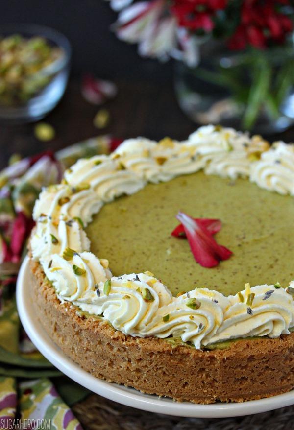 Pistachio Pie with Lemon Whipped Cream   From SugarHero.com