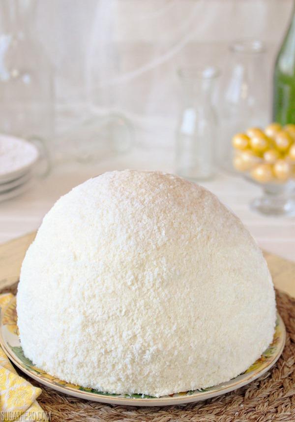 Lemon Coconut Snowball Cake