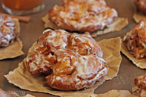 Apple Cider Fritters | From SugarHero.com