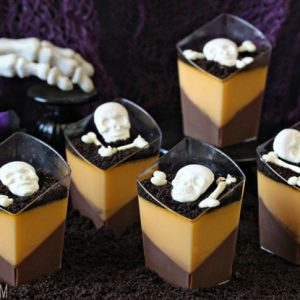 Chocolate Orange Panna Cotta | from SugarHero.com