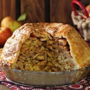Mile High Apple Pie | From SugarHero.com