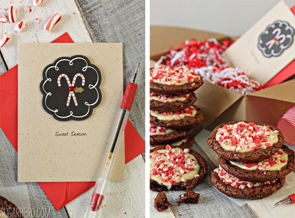 Chocolate Truffle Peppermint Crunch Cookies | From SugarHero.com