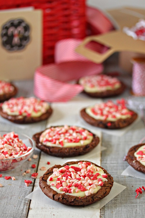 Chocolate Truffle Peppermint Crunch Cookies   From SugarHero.com