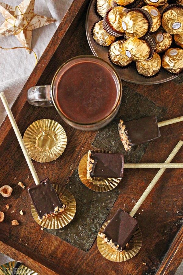Hazelnut Hot Chocolate On A Stick | From SugarHero.com