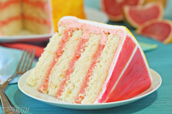 Grapefruit Layer Cake | From SugarHero.com