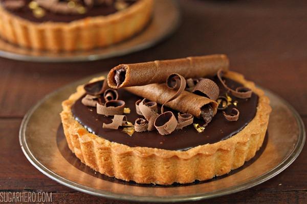 Four Fantastic Ways to Use Ganache: Salted Caramel Chocolate Tarts   From SugarHero.com