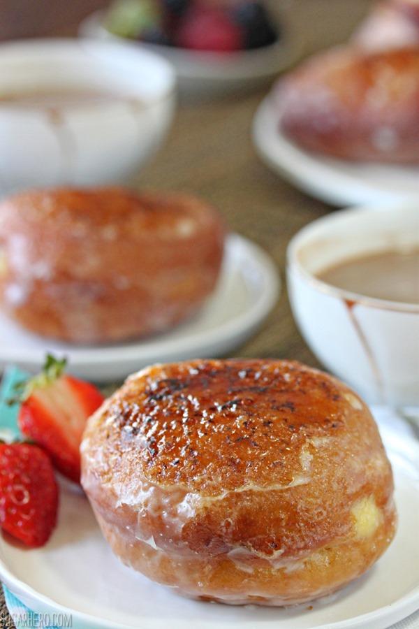 Crème Brulee Doughnuts   From SugarHero.com